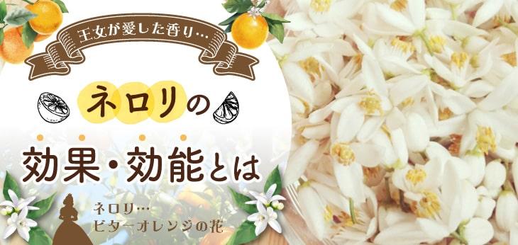 【王女が愛した香り】ネロリの効果効能とは